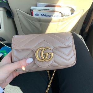 Gucci GG Marmont matelessé leather super mini bag